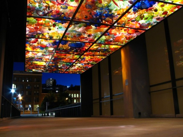 Chihuly Bridge of Glass - Joint Base Lewis McChord