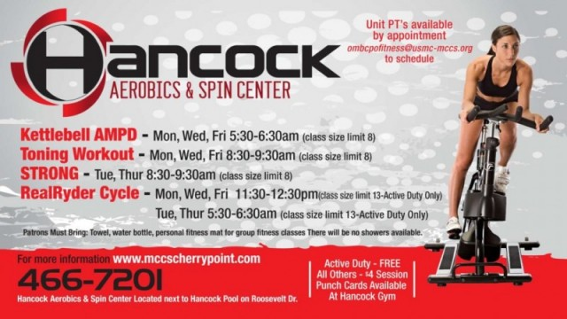 Hancock Aerobics and Spin Center - MCAS Cherry Point