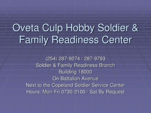 Oveta Culp Hobby Soldier and Family Readiness Center (ACS) - Fort Hood