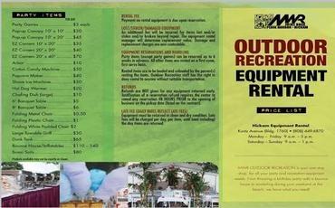 Outdoor Equipment Rental