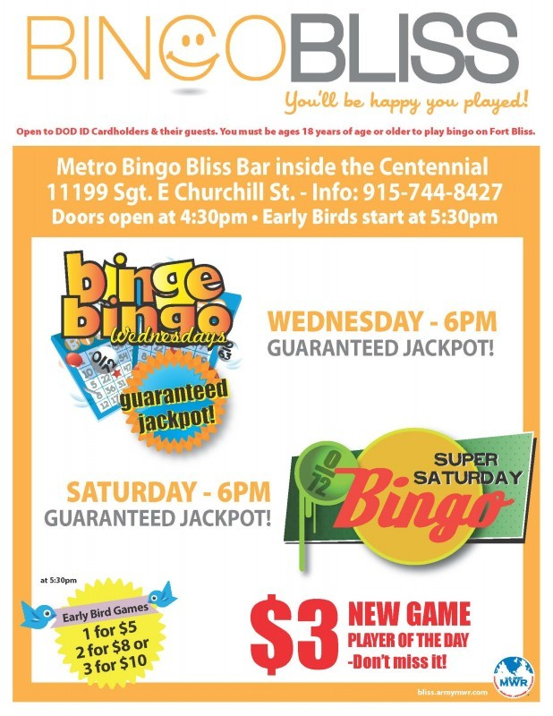 Bingo Bliss - Fort Bliss