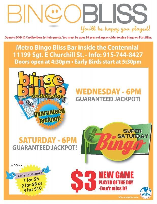 Bingo Bliss - Fort Bliss