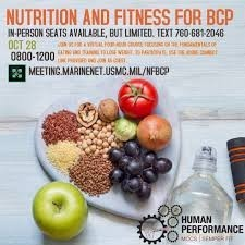 Nutrition and Fitness For BCP- Camp Pendleton