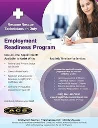 Employment Readiness Program- Fort Bragg